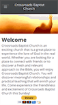 Mobile Preview of crossroadsbaptistchurch.org