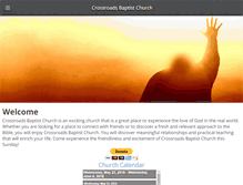 Tablet Preview of crossroadsbaptistchurch.org